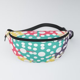 Colorful leaves with dots Fanny Pack