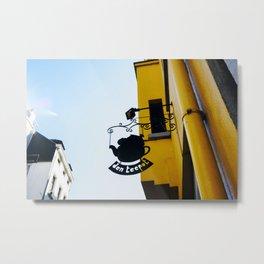 Tea detail at The City of Brussels Metal Print