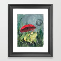 Rainy day Prince Framed Art Print