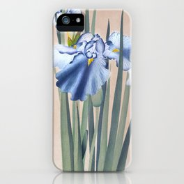 Iris Flowers - Traditional Japanese Woodcut Print Art by Ohara Koson iPhone Case