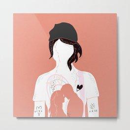Woman in Love Metal Print