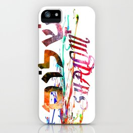 Shalom Hebrew Word iPhone Case