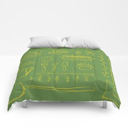 Gardening and Farming! - illustration pattern Comforters