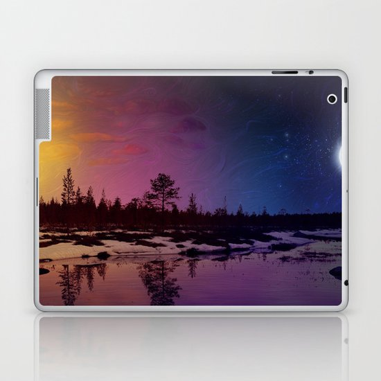 Day And Night - Painting Laptop & iPad Skin
