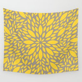Yellow Flower explosion Wall Tapestry