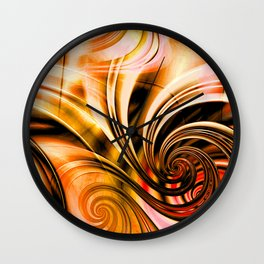 Curls Deluxe Orange Wall Clock