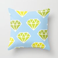 diamonds Throw Pillows featuring Diamonds by evannave