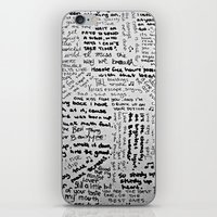 lyrics iPhone & iPod Skins featuring Song Lyrics by Fallon Chase