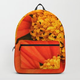 Mexican Sunflower Close Perspective Backpack