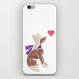 Watercolour Chinese Crested Dog iPhone Skin