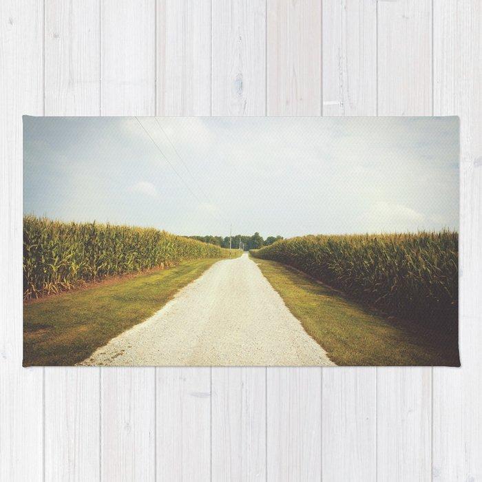 Indiana Corn Field Summers Rug