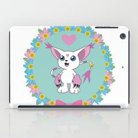 digimon iPad Cases featuring Girly Gatomon by hannahroset