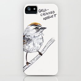 Gold-Crowned Kinglet iPhone Case