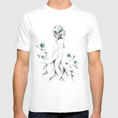 Poppy Poem SMALL Mens Fitted Tee White