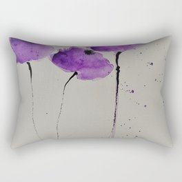 3 purple Flowers Rectangular Pillow