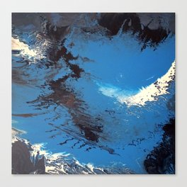 Blue Abstract Painting Canvas Print
