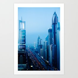 Dubai - Sheikh Zayed Road Art Print
