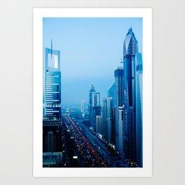 Dubai - Sheikh Zayed Road Art Print