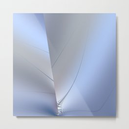 Fractal ice crystals at freezing point Metal Print