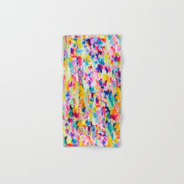 Bright Colorful Abstract Painting in Neons and Pastels Hand & Bath Towel