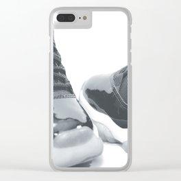 AJ 11 Retro B&W Clear iPhone Case