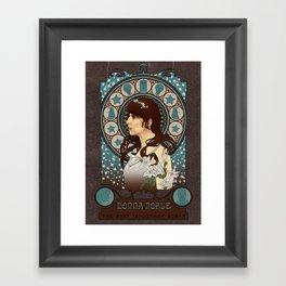 Donna Noble art nouveau , Doctor Who , TARDIS Framed Art Print