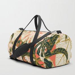 Flowering tropical coral bloom Duffle Bag