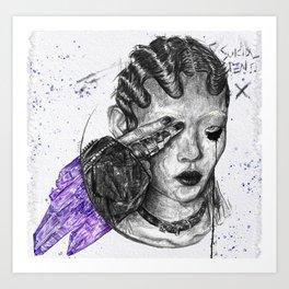 Break Moon Art Print
