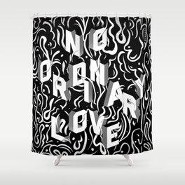 No Ordinary Love Shower Curtain