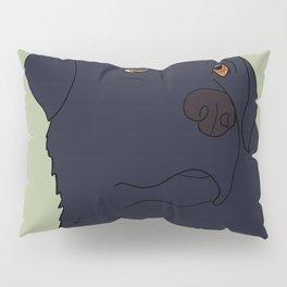 Black Labrador Retriever With Sad Eyes Pillow Sham