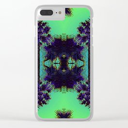 Hawaiian Neon Summer Nights Clear iPhone Case