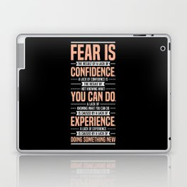 Lab No. 4 Fear Is The Result Dale Carnegie Inspirational Quotes Laptop & iPad Skin
