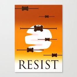 Rebel Resistence Canvas Print