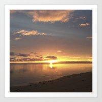 Peaceful Sunset Art Print