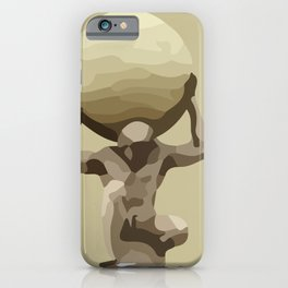 Man with Big Ball Illustration light brown iPhone Case