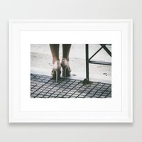heels Framed Art Prints featuring Heels by Photography by H. Salonen-Kvarnström