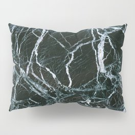 Black Marble With White Ribbons Pillow Sham
