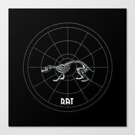 Rat Animal Totem Canvas Print