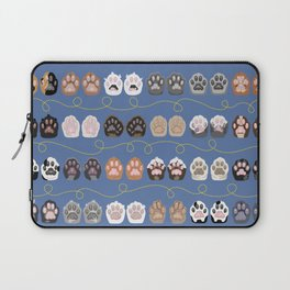 Toe Beans on Blue / Cat Paws Laptop Sleeve