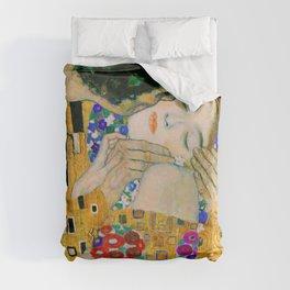 The Kiss by Gustav Klimt Duvet Cover