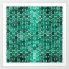 Glitter Tiles V Art Print