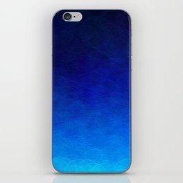 Cyan Circular iPhone Skin