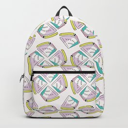 Memphis Tropical Watermelon Pattern, Seamless Vector Background Backpack