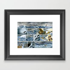 Untitled (A Girl and her Boat) Framed Art Print