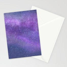 Deep Purple Milky Way Stars Stationery Cards