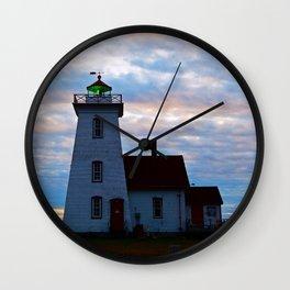 Green Beacon Lighthouse Wall Clock