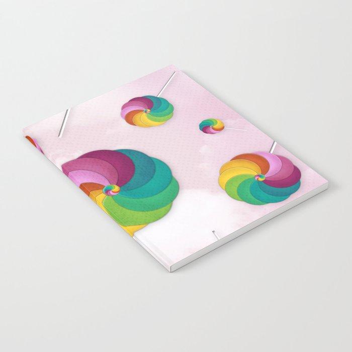 Lollipop Rain Notebook