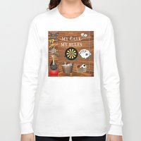 nick cave Long Sleeve T-shirts featuring Man Cave by LLL Creations