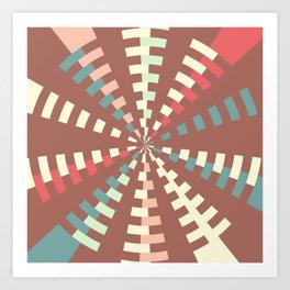 Dashed vortex Art Print