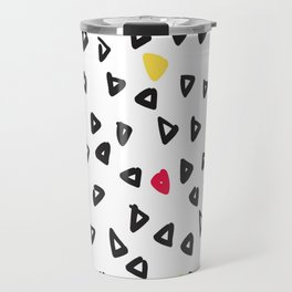 doodle triangles Travel Mug